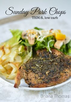 These Sunday Pork Chops are one of our go-to after-church dinners. THM:S, low carb