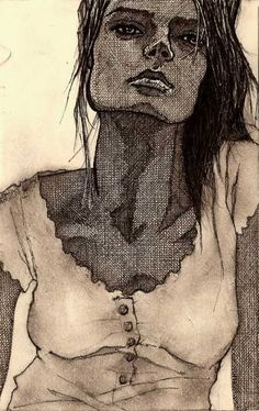 As belas mulheres a lápis e tinta de Zachary Johnson