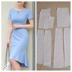 Fashion Sewing, Diy Fashion, Fashion Dresses, Bodice Pattern, Sewing Blouses, Dress Making Patterns, Pattern Making, Dressmaking, Clothing Patterns