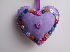 Pretty heart with buttons by MarthaMoo Krafts
