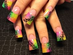 neon leopard by Oli123 - Nail Art Gallery nailartgallery.nailsmag.com by Nails Magazine www.nailsmag.com #nailart