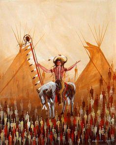 Buffalo Medicine Man by Eddy Cobiness Native American Artwork, Native American Artists, American Indian Art, Canadian Artists, Native American Indians, Modern Indian Art, Inuit Art, Bear Claws, Medicine Wheel