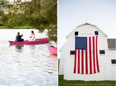 amazing RED WHITE AND BLUE WEDDING!