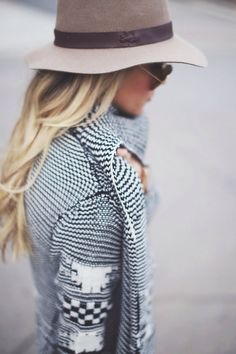 Textured knit, finely capped and shaded.