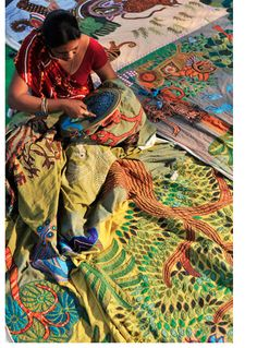 West #Bengal India vibrant #Embroidery <3