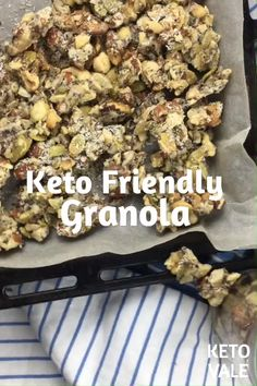 Keto Granola Low Carb Recipe – Food for Healty Cetogenic Diet, Ketogenic Diet Meal Plan, Keto Meal Plan, Diet Meal Plans, Diet And Nutrition, Diet Foods, Low Carb Granola, Low Carb Dinner Recipes, Diet Recipes