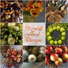 The prettiest collection of 10, DIY fall floral designs