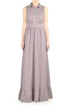 I <3 this Ruffle hem cotton check maxi dress from eShakti ---- $40 off: https://www.talkable.com/x/T4de6Y ----