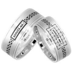 Verighete ATCOM Lux personalizate SARUTA-MA aur alb Aur, Rings For Men, Wedding Rings, Memories, Engagement Rings, Jewelry, Butterfly, Diamond, Schmuck