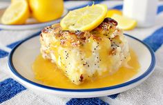Food Wanderings in Asia: Pucker Up! Lemon poppyseed cream cheese bread pudding with lemon sauce...oh my goodness!