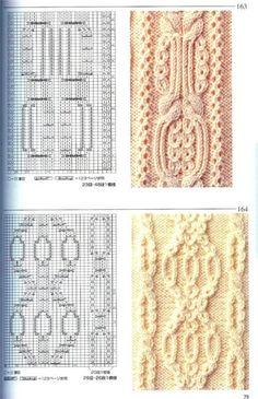 Араны, вязаные спицами со схемами