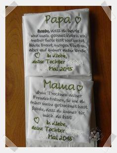 Besticktes Stofftaschentuch von Nina Schmoll - creative for you