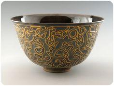 calligraphic bowl