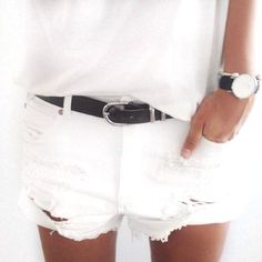 One of the classic summer vacation items are the denim cutoff shorts....