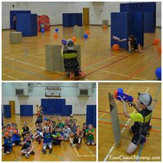 The ultimate DIY NERF battle. Best Picture For Nerf Gun Birthday Party decorations For Your Taste Yo 7th Birthday Party For Boys, Birthday Party Themes, Nerd Birthday, Nerf Games, Kid Games, Nerf Party, Youth Group Games, Party Activities, Nerf Gun