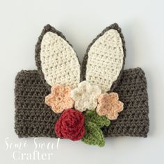 easter crochet patterns Advertisements Make something cool for your kids this spring! Floral Bunny Headband is a cute and funny way to transform your little ones into sweet rabb Holiday Crochet, Crochet Gifts, Crochet Hooks, Free Crochet, Knit Crochet, Crochet Things, Half Double Crochet, Single Crochet, Easter Crochet Patterns