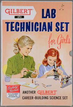 Lab Technician for Girls Set, 1958 #science Girl or Boy, let's interest them in experiences like these!