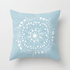 A personal favorite from my Etsy shop https://www.etsy.com/listing/258174783/pastel-blue-mandala-throw-pillow-cover