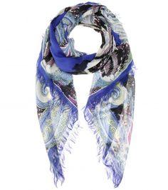 Etro - Printed silk and wool-blend scarf - mytheresa.com