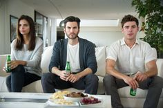 Emily Ratajkowski, Wes Bentley and Zac Efron in We Are Your Friends