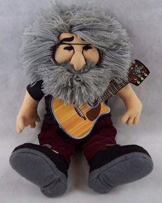 "Grateful Dead Jerry Garcia ""The Jerry Doll"" w/Guitar Liquid Blue Gund 1998"