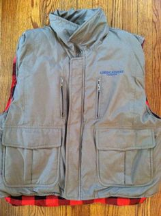 Vintage Hunting Puff Vest Mens Large RARE LORD CALVERT CANADIAN Whisky Winter