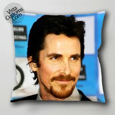 Christian Bale vistacustoms.com Pillow Case, Cushion Cover with optional 1 or 2 side print and available in size 16, 8, 20, 24, 28, 30, 36 inch D3 2.jpg