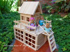 como hacer casas con palitos de madera - Buscar con Google