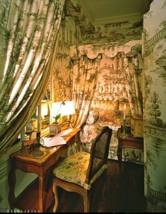 Once a staple of formal decorating, French toile is making a huge comeback.Toile de jouy fabric originated in France in the and . Decor, French Country House, Alcove Bed, Interior, Home, Beautiful Interiors, French Country Bedrooms, Country Bedroom, Interior Design