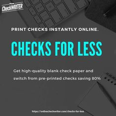 Order Checks Online, Walmart Checks, Payroll Checks, Blank Check, Writers Help, A State Of Trance, Free Checking, Quickbooks Online, Custom Website Design