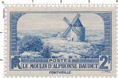 France Stamp - Le Moulin d'Alphonse Daudet - Fontvieille  (1936)