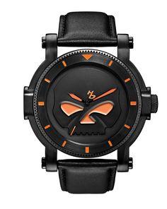 Harley-Davidson® Men's Medallion Collection Willie G® Skull Watch