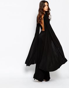 Image 2 of Rokoko Dramatic Maxi Dress With Open Back