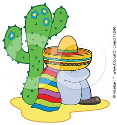 Make Sleeping Mexican statues to sit under cacti - Mexico