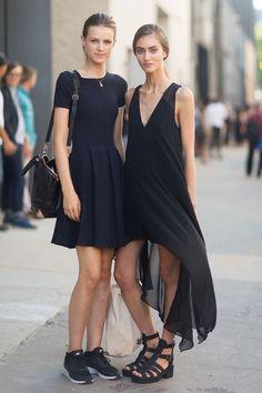 Love black dress  #streetstyle #dress