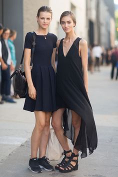 Love black dress  #streetstyle #dress
