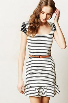 Inverse Stripe Day Dress #anthropologie