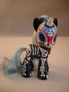 CUSTOM MY LITTLE PONY FRIENDSHIP IS MAGIC DAY OF THE DEAD OPTIMUS VOLTS OOAK | eBay