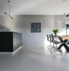 Motion Gietvloeren in ANDELST - UW-vloer.nl Bathtub, Loft, Interior, Painting Walls, Standing Bath, Bathtubs, Indoor, Bath Tube, Lofts