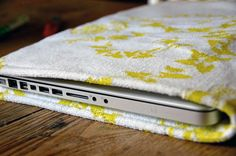 16 Stylish + Simple DIY Laptop Sleeves via Brit + Co.