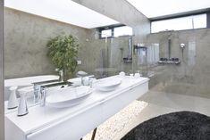 archiweb.cz - Moderní betonové stěrky v koupelnách