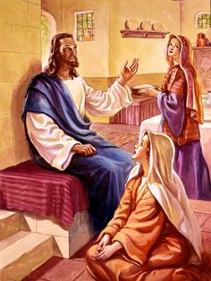 New Jesus | When Jesus visited the home of Mary and Martha in Bethany, Martha was ...