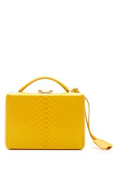 Grace Yellow Small Top Handle Trunk With Python by Mark Cross for Preorder  on Moda Operandi 062ca91886028