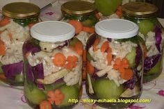 Muraturi asortate Romanian Food, Guacamole, Pickles, Mason Jars, Canning, Chicken, Meat, Vegetables, Ethnic Recipes