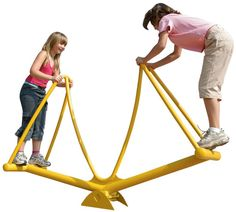 Stand-Up Seesaw - Large Galvanized Steel Teeter-Totter for Collaborative Play - Landscape Structures