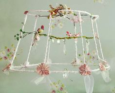 DIY: Upcycled Lamp Shade Chandelier | Dena Designs