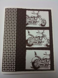 The motorcycle card was inspired by Carol Fraley.