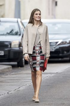Queen Letizia of Spain arrives for a meeting at CSME (Espana Mental Health Confederation) on October 18, 2016 in Madrid, Spain.