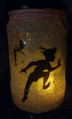 #Peter pan and tinkerbell, #fairy jar #night light, ideal gift, flameless candle,  View more on the LINK: http://www.zeppy.io/product/gb/2/252620156670/