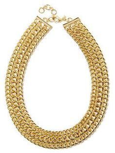 Luxe Links Necklace | Banana Republic Could be perfect touch for my coral Rehearsal Dinner Dress